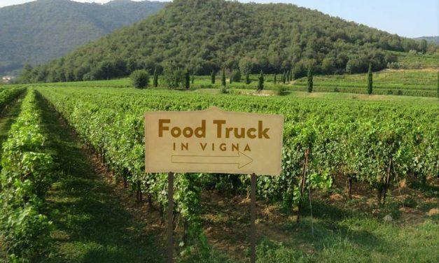 Food truck in vigna a La Montina in Franciacorta